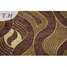 Tela de tapicería de chenilla marrón hecha en China