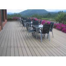 Grooved sólido WPC impermeável Decking Laminate Flooring