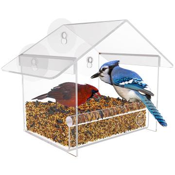 Casa de acrílico para pájaros salvajes pequeños o grandes
