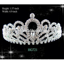 Full round pageant crowns jeweled tiara crown personalized mystical mermaid tiara beauty queen crystal tiara