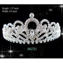 Coroas completas de desfile redondeadas tiara de tiara coroa personalizadas tiara mística tiara beleza reina cristal tiara