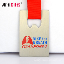 Stainless Steel Germany Cycling Beer Bottle Opener Medal With Lanyard