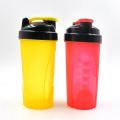 Garrafa protetora de proteína de plástico de 600 ml, recentemente projetada, com bola de aço inoxidável