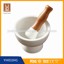 ceramic mini mortar and pestle pepper mills / salt & pepper mills