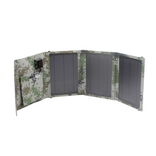 15W Foldable Waterproof Solar Mobile Phone Charger for Outdoor Camping