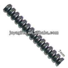 Natural hematita de alta calidad 7MM rebanada perlas sueltas para la fabricación de joyas