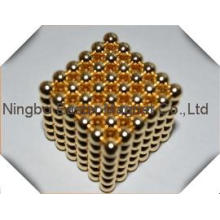 Made in China Golden Plating Ball Magnet