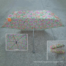 4 Fold Check Polyester Fabric Umbrella (YS-4F4041A)