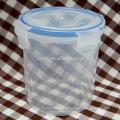 rodada de recipientes sealable plástico impermeável comida de cilindro