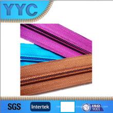 Hot Sales 5 # Nylon Cadena Larga Cremallera Nylon Roll Zipper