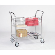 Carrinho para carrinho de compras de metal cromado para armazenamento de produtos diversos (TR904590A2CW)