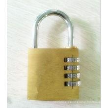 40mm Brass Combination Lock Padlock 4 Dials Code Lock (110406)