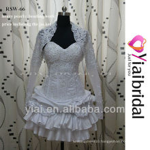 RSW66 Short White Wedding Dress With Jacket
