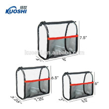 clear pvc cosmetic bag with ziplock