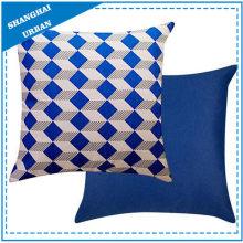 Almohada de lana de poliéster con forma de diamante de índigo
