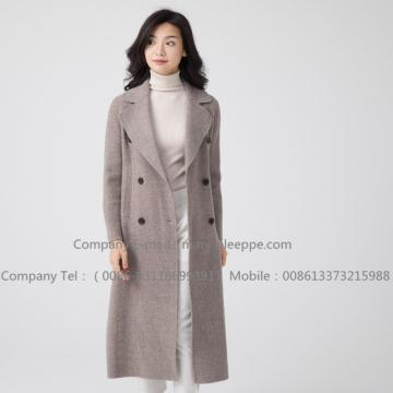 Långhårad Cashmere Overcoat For Lady