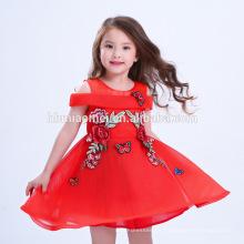 Bester Preis Schöne rote gestickte chinesische Art Kleid Big Girl Party Kleider