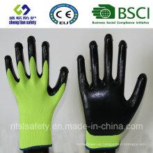 13G poliéster Shell con guantes de trabajo revestidos de nitrilo (SL-N110)