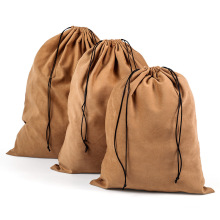Custom Hotsell Reusable Suede  Flannel Fabric Drawstring bag storage bag
