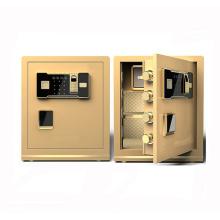 Impressão digital do cofre do escritório. Cofres de hotel com digital