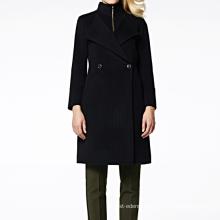 17PKCSC005 women double layer 100% cashmere wool coat