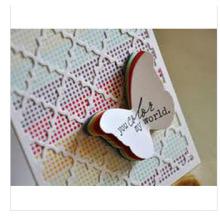 2015 Die Lasest Hochzeitskarte für Dank Zweck mit Schmetterling