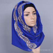 mélangé solide plaine fantastique écharpe en gros fantaisie dames arabe musulman Hijab