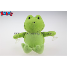 Competitive Price Custom Plush Green Frog Animal Toys with Plastic Suction Cups Bos1138