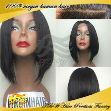 Top-Qualität 100% unverarbeitete reine Haar glueless Seide Top volle Spitzeperücke