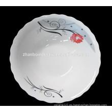 Tazón profundo de cerámica de la venta caliente del diseño normal