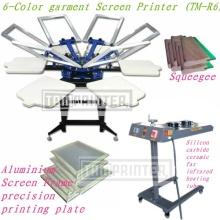 TM-R6 6 couleurs soie/Textile T Shirt Screen Printing Press