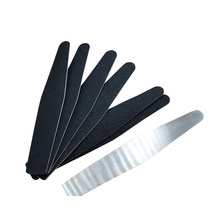Customized stainlesssteel nail file Metal nail file with replaceable pad