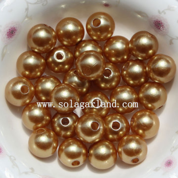 ABS plastic Round Pearl Beads Faux Imitation Jewelry Pearl in Bulk