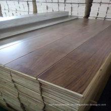 Plancha ancha de nogal negro, suelo de madera reconstituida