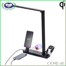 4 in 1 Multifunktions-Qi Wireless-Ladegerät Pad + LED Schreibtischlampe + Wireless Smart Watch Ladegerät Halter + USB Lade-Cradle für iPhone und Apple Watch