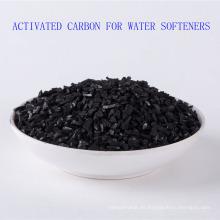 Carbón activado Shell de alta calidad de 8-20mesh para los suavizadores de agua
