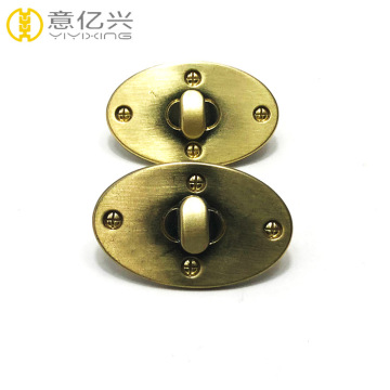 Custom Hardware Oval Metal Bag Twist Turn Lock