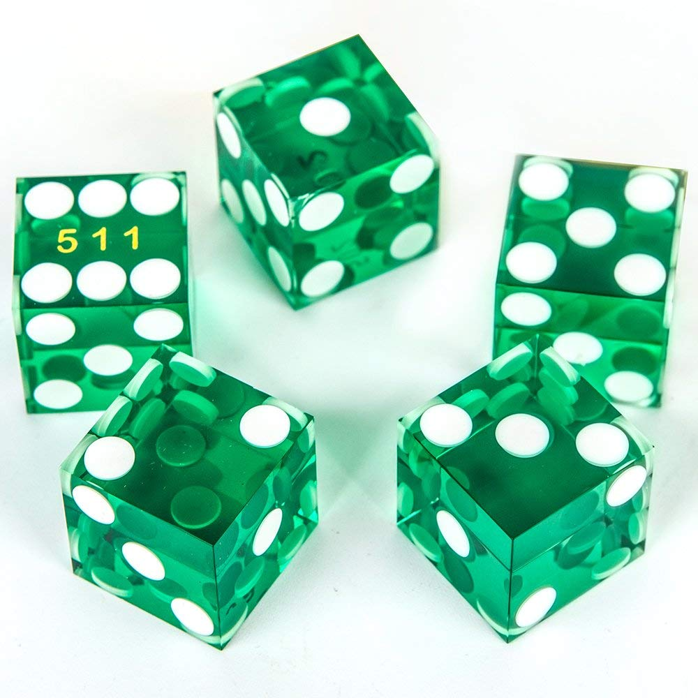 Green High Quality Translucent Dice