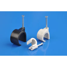 Coaxial Cable Clips (6-7mm)HDPE, nail made of carton steel)