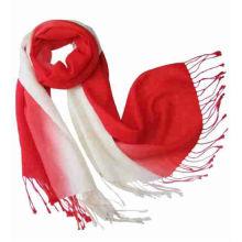 Gradient colorful pashmina acrylic scarf