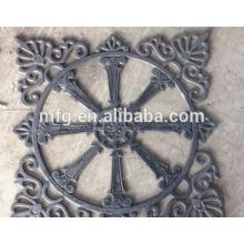 Ferro fundido peças vedação peças / enfeites de ferro fundido design para decoração