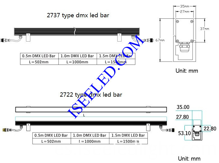 DMX ADJ LED Bar RGB