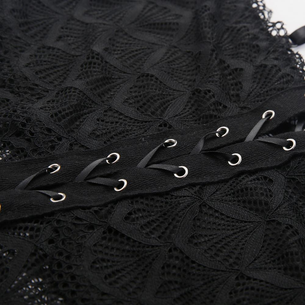Corset Details At Bust Panel