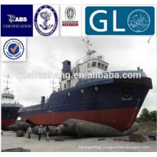 inflatable rubber floating pontoon for barge