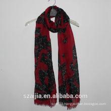 Fashion new design shiny printed women scarf/shawl