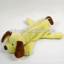 cremallera felpa caja de lápices de perro para adolescentes
