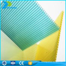 Fábrica de China mejores materiales de techo de plástico policarbonato pc hoja hueca precio