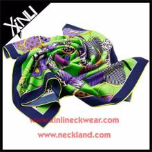 2015 Ladies Custom Print 100 Pure Wholesale Silk Scarves