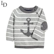 Kinder Baumwolle Streifen Pullover Pullover gestrickt Baby Baumwolle Pullover