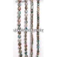 Bolas de piedra de piel de serpiente preciosa DIY con color teñido